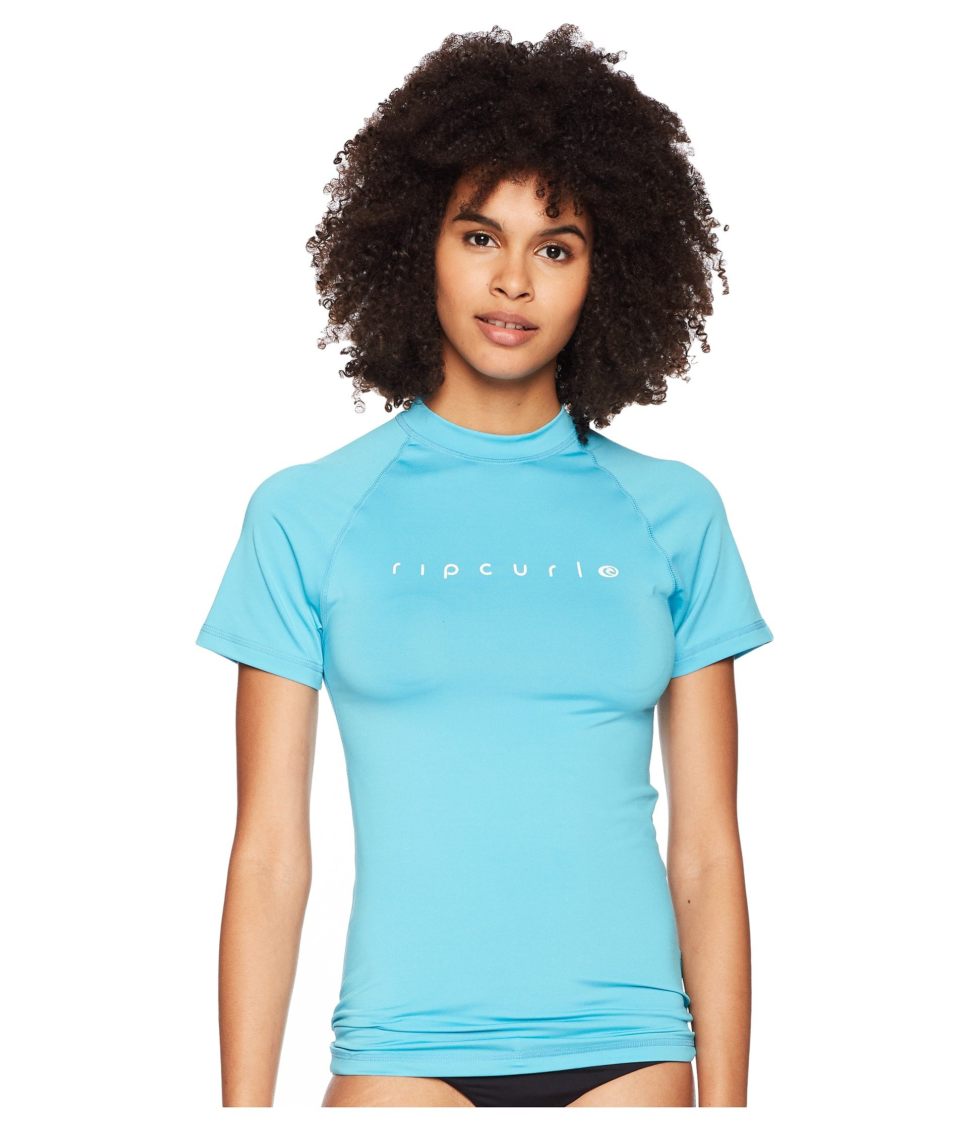 Rip Curl Sunny Rays Relaxed Short Sleeve Rash Guard, Light Blue, XS by Rip Curl