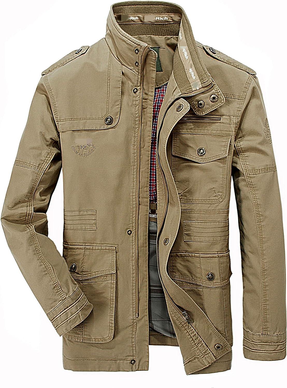 Merciy Hombres chaqueta Primavera otoño e invierno Algodón Militar Chaqueta