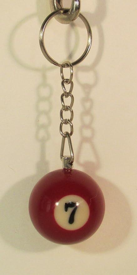 Llavero de Billar con diseño de Bola de Billar de 3,17 cm, número ...
