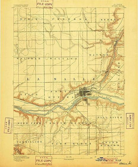 Amazon Com Yellowmaps Ottawa Il Topo Map 1 62500 Scale 15 X 15