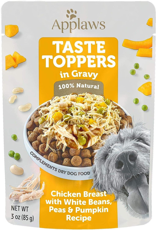 Applaws Taste Toppers Chicken, Peas, Pumpkin & White Bean in Gravy Wet Dog Food, 3 oz.