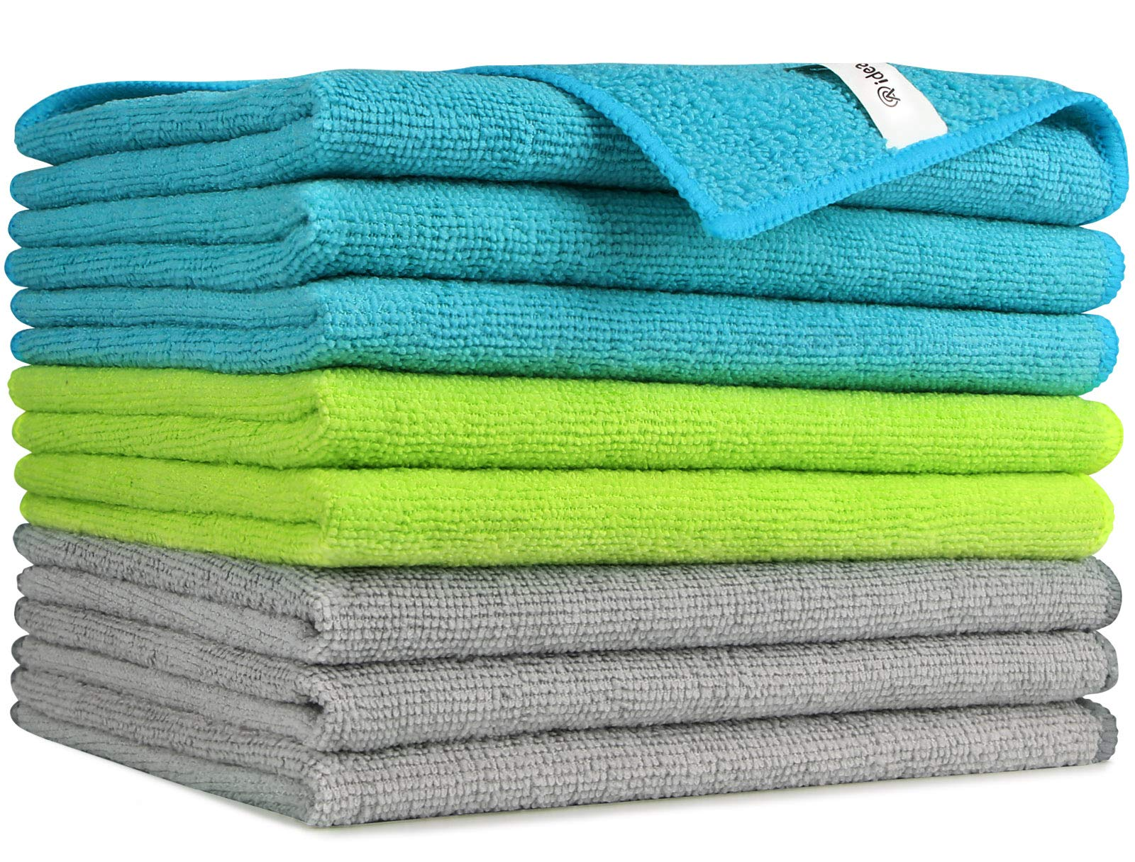 AIDEA Microfiber Cleaning Cloths-8PK, Softer Highly Absorbent, Lint Free Streak Free for House, Kitchen, Car, Window Gifts(12in.x16in.)—8PK