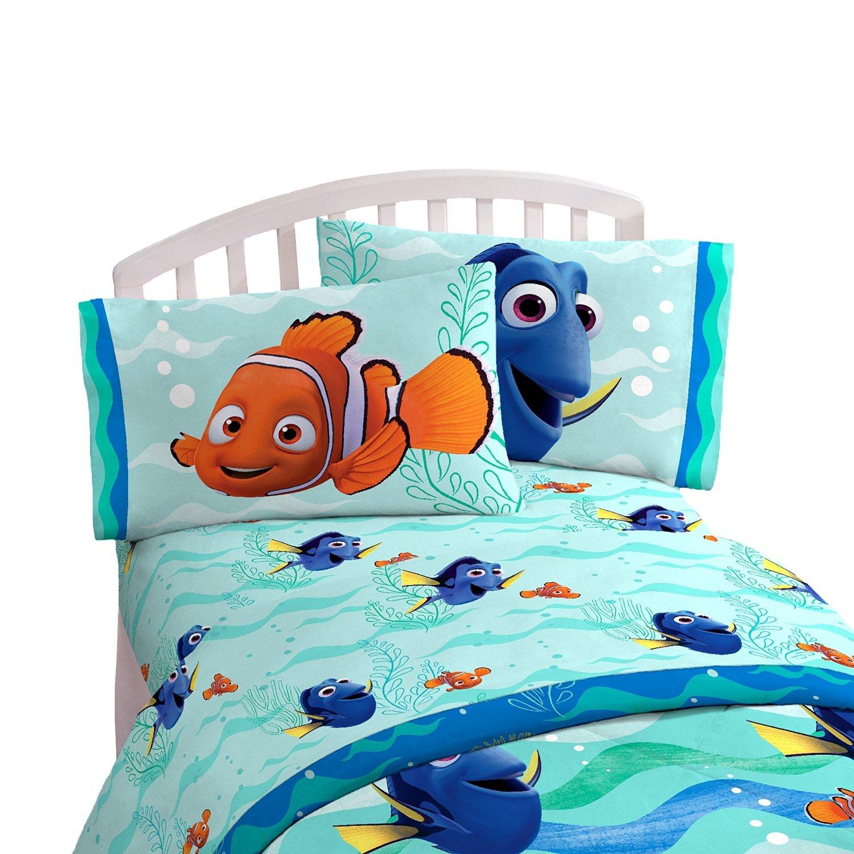 Disney Finding Dory 4 Piece Full Sheet Set Jay Franco /& Sons