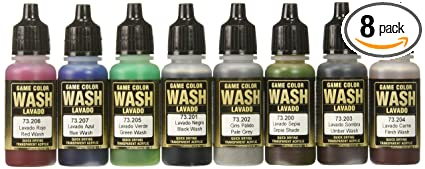 9244ce047b233 Vallejo Game Color Washes 17ml Paint