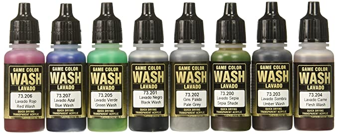 Amazon Vallejo Game Color Washes 17ml Paint Toys Games