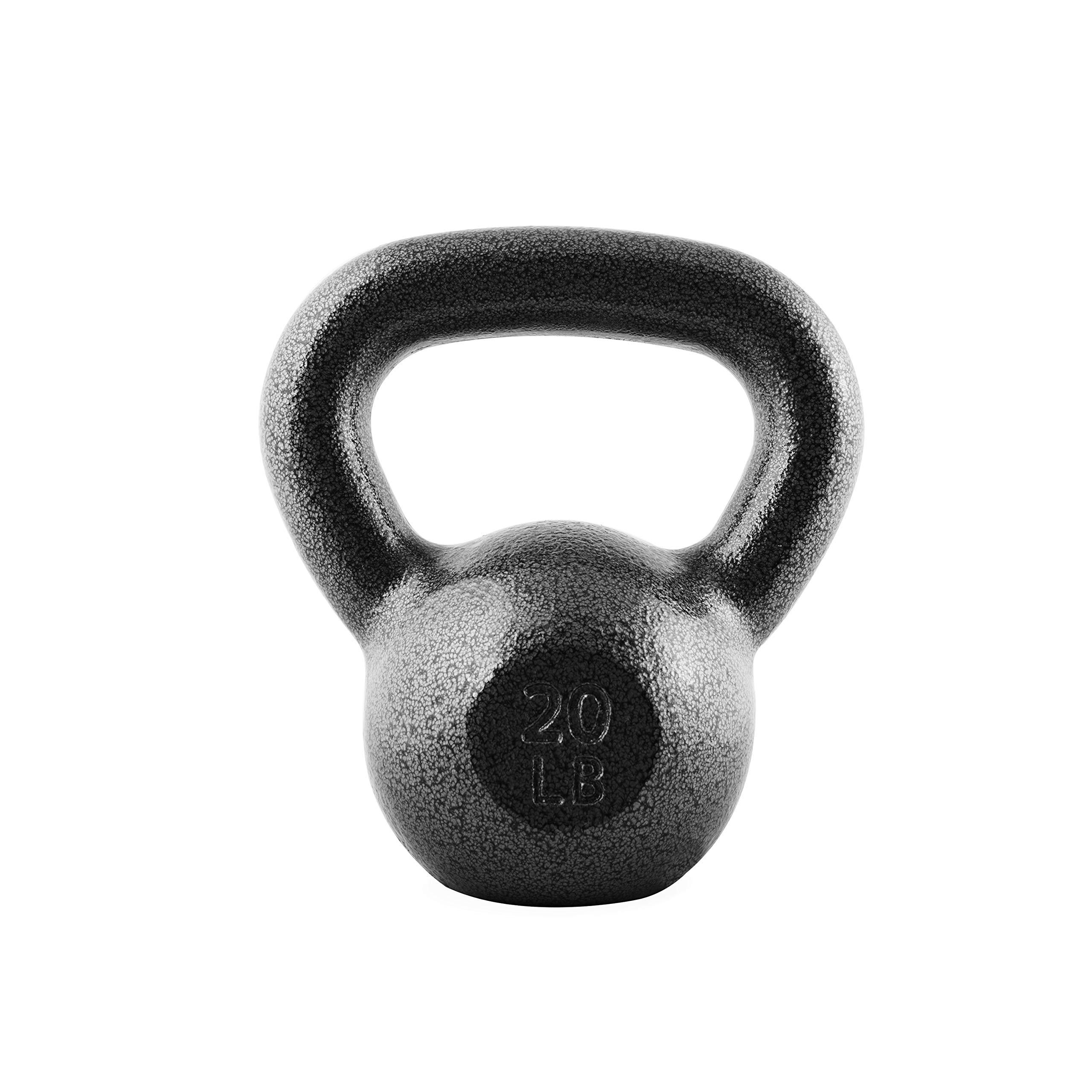 CAP Barbell SDK2B-020 Cast Iron Kettlebell, 20 lb, Black