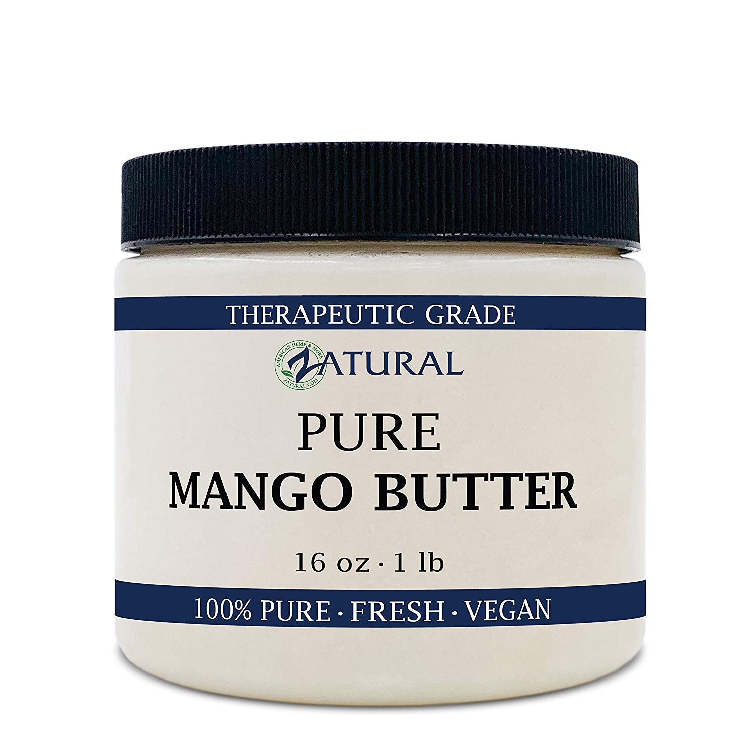 Zatural Mango Butter Pure Food and Cosmetic Grade Natural (16 Ounce)
