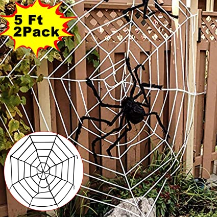 Halloween Decoration Clearance 2 Pack Super Stretch Giant Spider Web Indoor Outdoor  Decorations Yard Garden Large - Amazon.com: Halloween Decoration Clearance 2 Pack Super Stretch