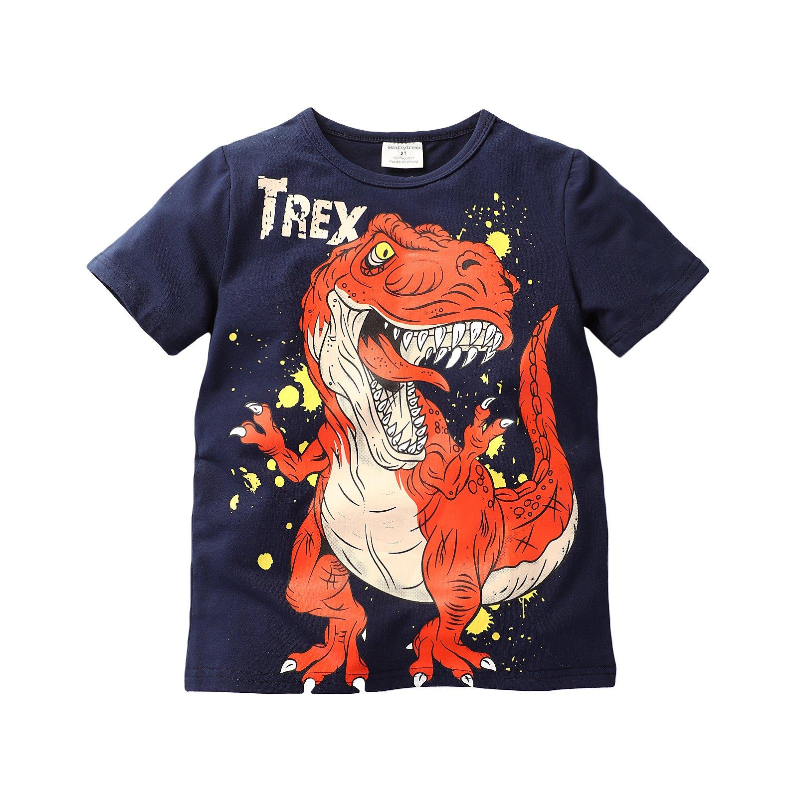 Baby Boys T-Shirts Jurassic Dinosaur Tyrannosaurus Rex Short Sleeve Top