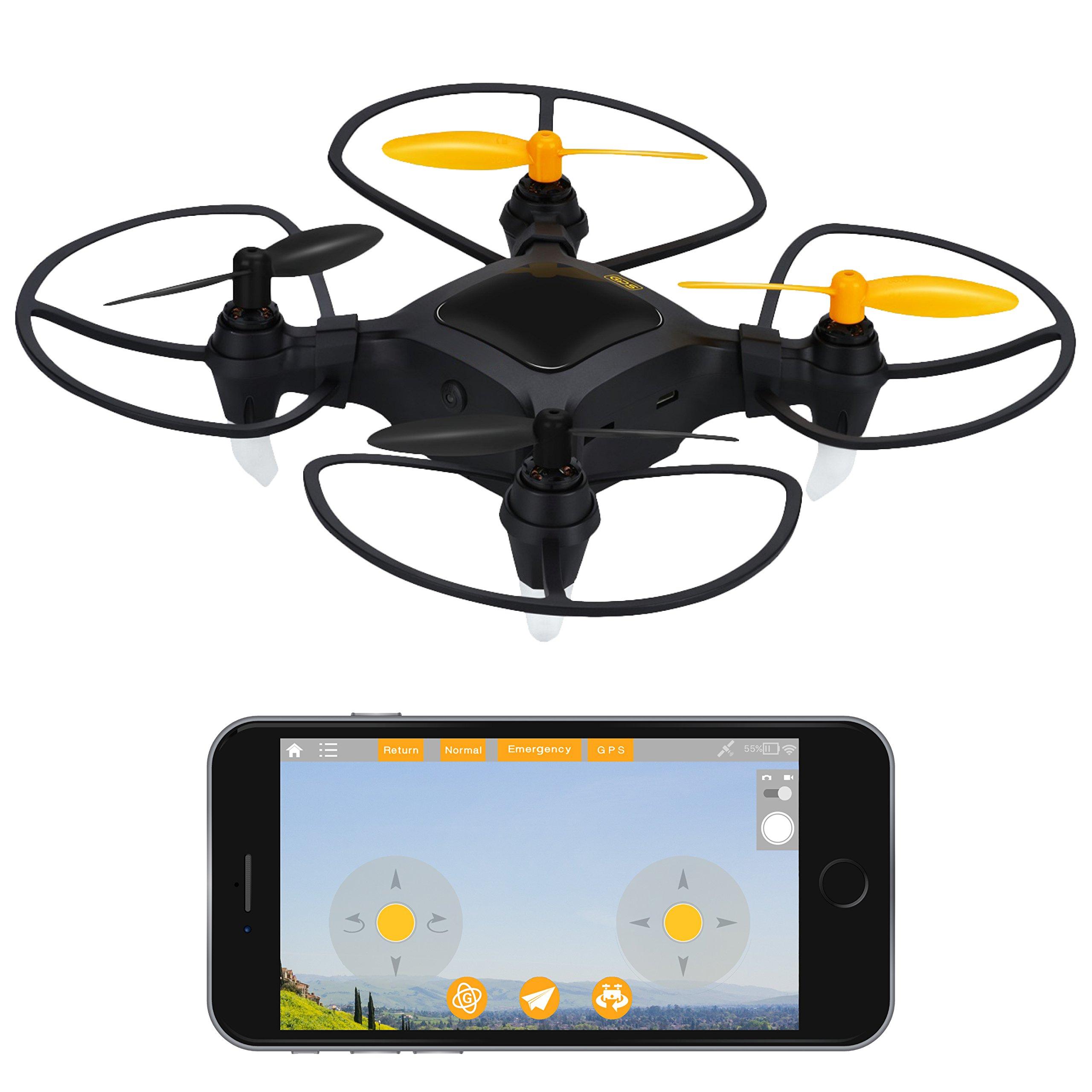 """Force1 Quadcopter Drone with Camera Live Video Nano Drone"""" 1080p Mini Camera Drone w/ GPS for Beginners Outdoor + Indoor Mini Drone Quadcopter Fun"""