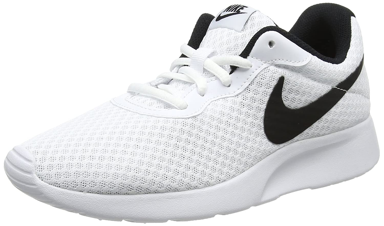 NIKE Women's Tanjun Running Shoes B00L11ZV7Y 5.5 B(M) US|White/Black