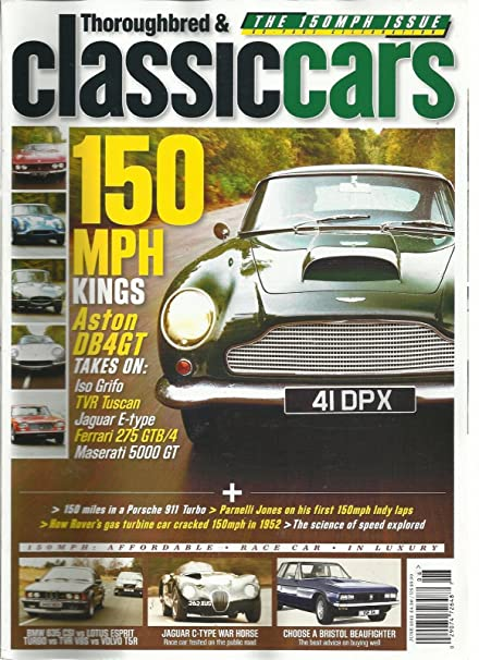 Amazon.com : THOROUGHBRED & CLASSIC CAR, JUNE, 2012 (HOW ROVERS GAS TURBINE CAR CRACKED : Everything Else