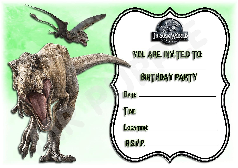 Invitaciones para fiesta de cumpleaños Jurassic World ...