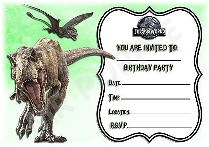 Invitaciones Para Fiesta De Cumpleaños Jurassic World