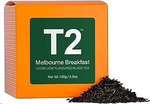 T2 Tea Melbourne Breakfast Loose Leaf Black Tea in Box, 3.5 Ounce (100g)