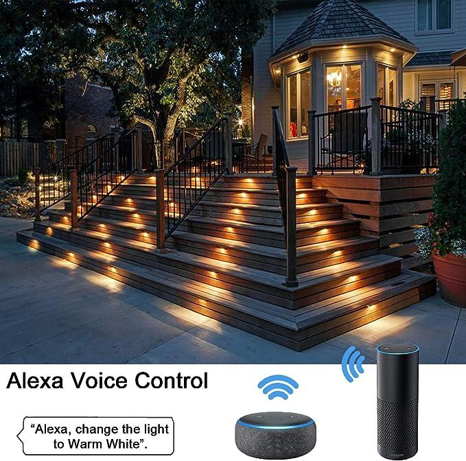 1//10 x 45mm 1W Outdoor Garden Yard Path Stair Step LED Deck Rail Soffit Lights