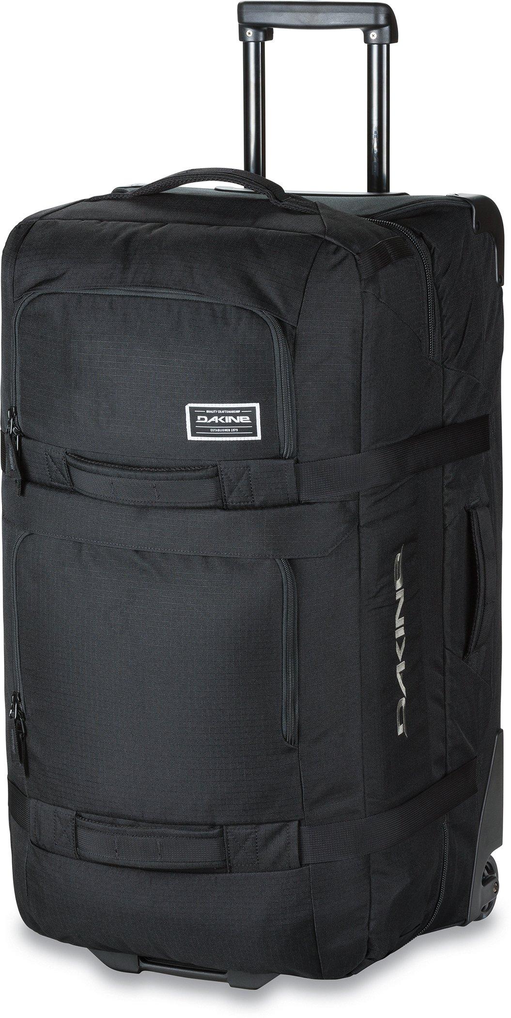 Dakine - Unisex Split Roller Luggage Bag - Durable Construction - Split-Wing Collapsible Brace Level - Exterior Quick Access Pockets (Black, 85L)