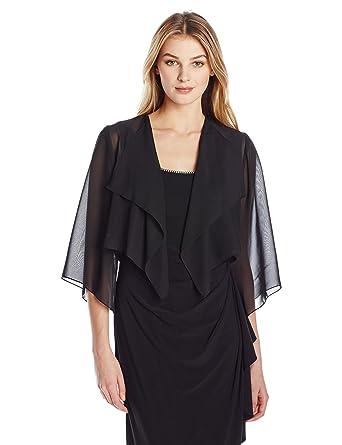 74694d1141 Amazon.com: Alex Evenings Women's Chiffon Hanky Short Bolero Jacket ...
