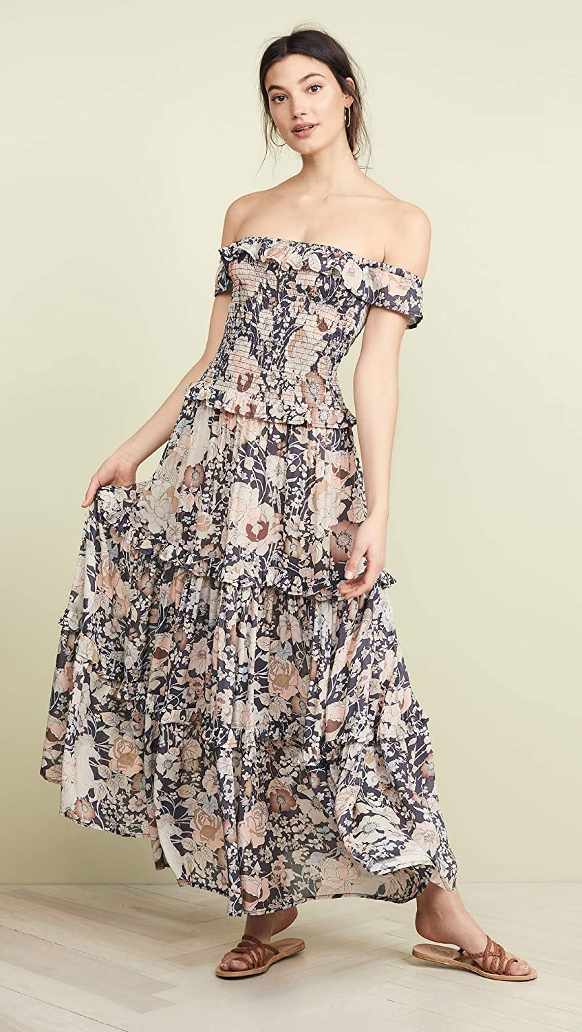 8a1dd92d79d Spell and the Gypsy Collective Women s Amethyst Shirred Sundress at Amazon  Women s Clothing store
