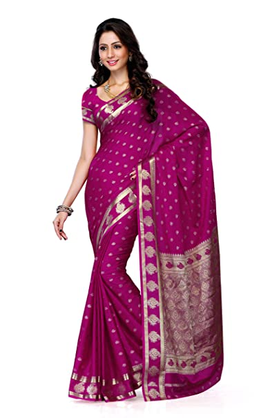 7281701da1 Mimosa Women's Crepe Saree With Blouse Piece (2075-Rani,Rani,Free Size):  Amazon.in: Clothing & Accessories