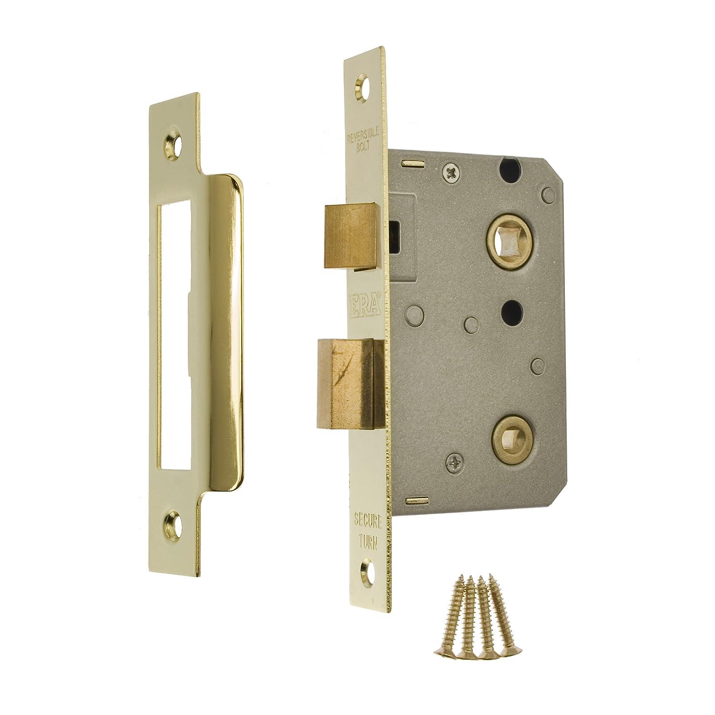 Era 2.5 Inch/ 64mm Bathroom Sashlock   Brass Effect: Amazon.co.uk: DIY U0026  Tools