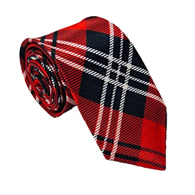 Traditional Red Royal Stewart Adults Bow Tie Pre Tied Adjustable Burns Night NEW