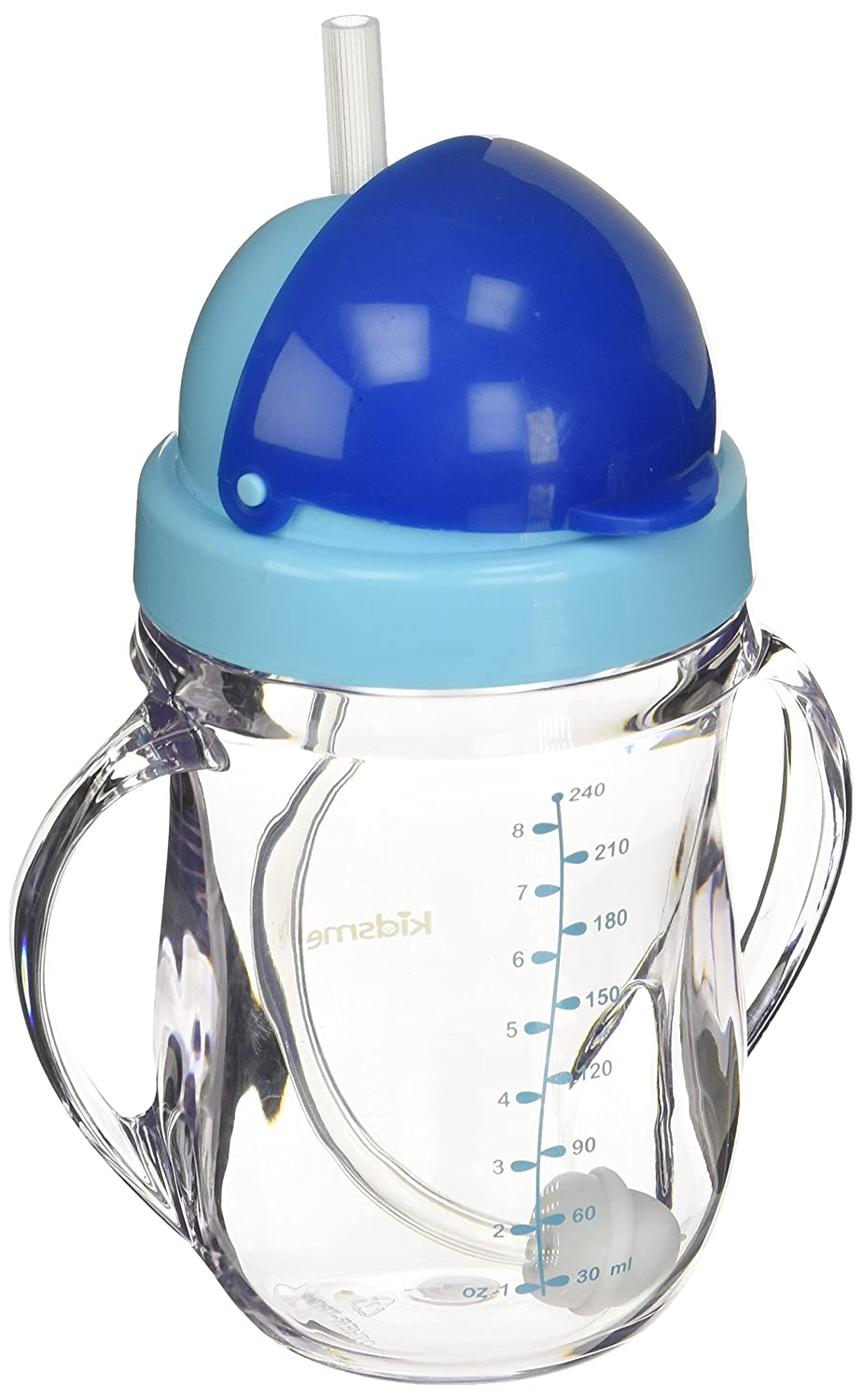 Kidsme Tritan Training Cup with Weighted Straw Aquamarine