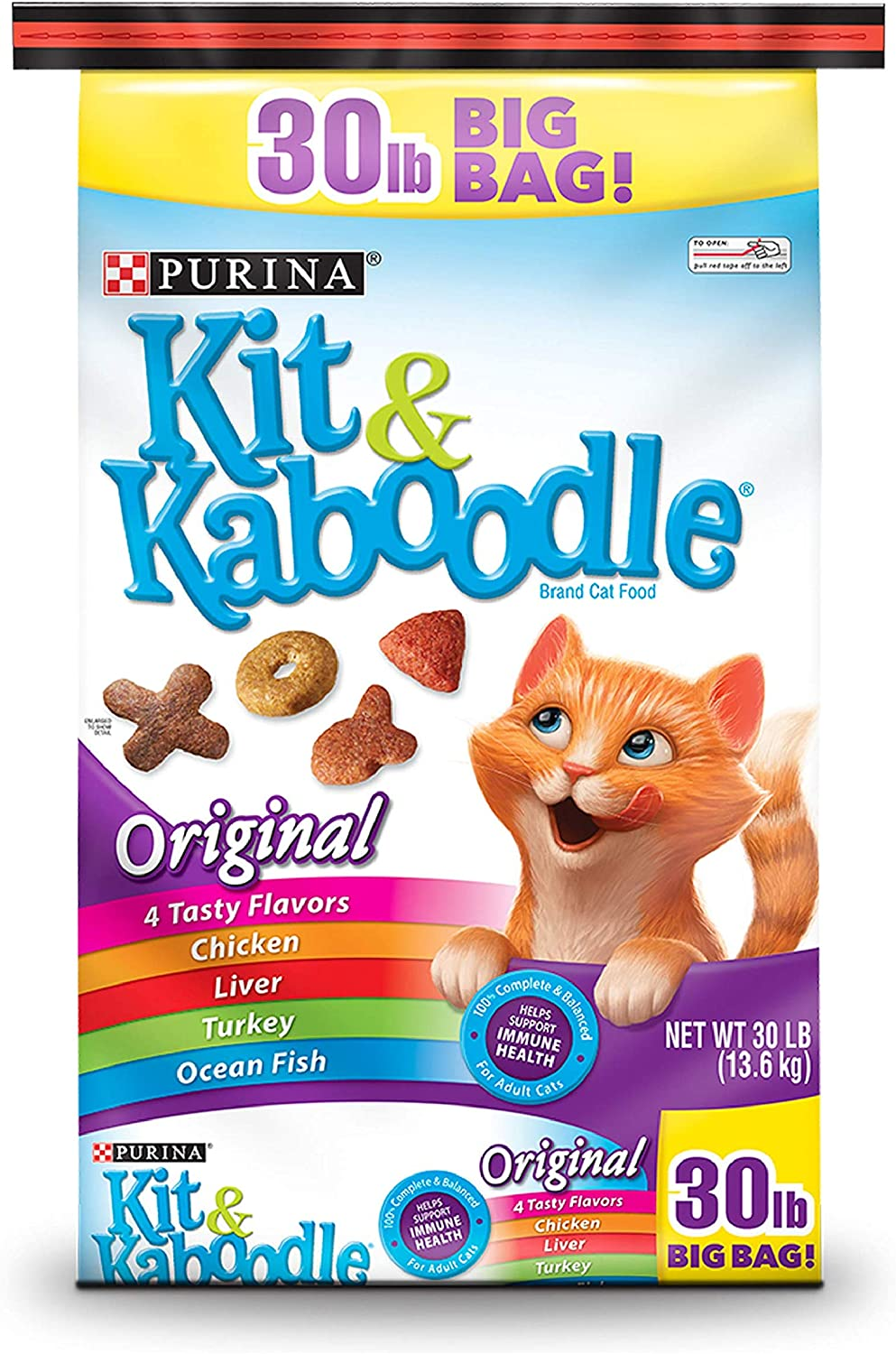 Pack of 2 - Purina Kit & Kaboodle Original Cat Food 30 lb.