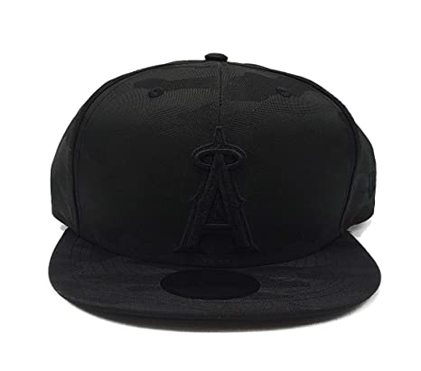 online store e4683 dc578 New Era Blackout Camo Play 9FIFTY Adjustable Snapback Hat (Anaheim Angels)