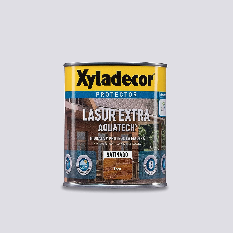 Xyladecor Lasur Extra Satinado Aquatech para madera Teca 750 ml