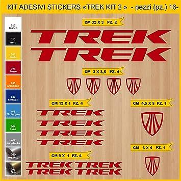 Kit Pegatinas Stickers Bicicleta Trek -Kit 2-16 Piezas- Bike Cycle ...