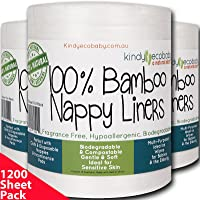 Bamboo Viscose Baby Nappy Liners 1200 Sheet Pack Biodegradable, Flushable, Disposable Liners, Bamboo Viscose Fragrance-Free Nappy Liners, compostable, Disposable Liners,1200 Sheets