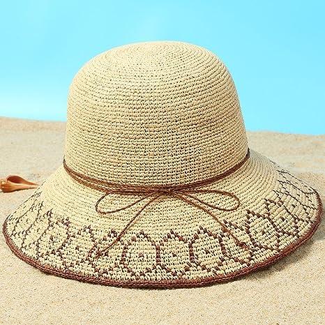 Mano Spiaggia Cappelli Paglia Xiaoyan Donna Fatto A Da WAPI17qA