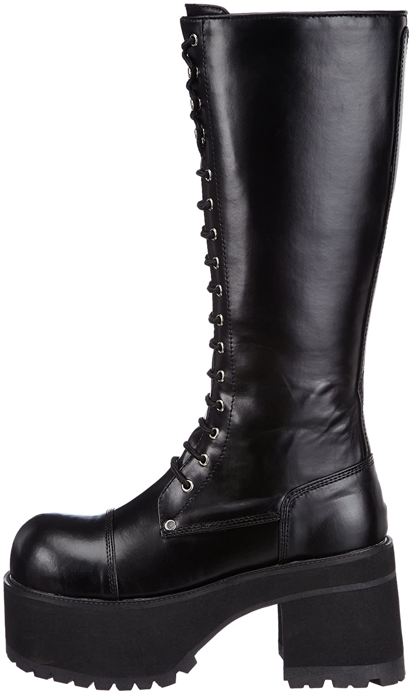 Demonia CONCORD-108 Damen Stiefel, Schwarz (Blk Vegan Leather), EU 40 (UK 7) (US 10)