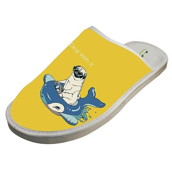 Unisex Crocs Shoes Soft Family Slippers Sandals Funny Bull Dog Winter Flat Flip Flops Adult