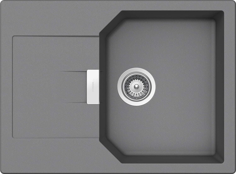 Schock D-100XS Manhattan /Évier de cuisine Coloris rocca