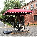 Tylor's Garden 8-1/2 Ft Cantilever Outdoor Patio Umbrella, UV Resistant, 100% Polyester, Burgundy