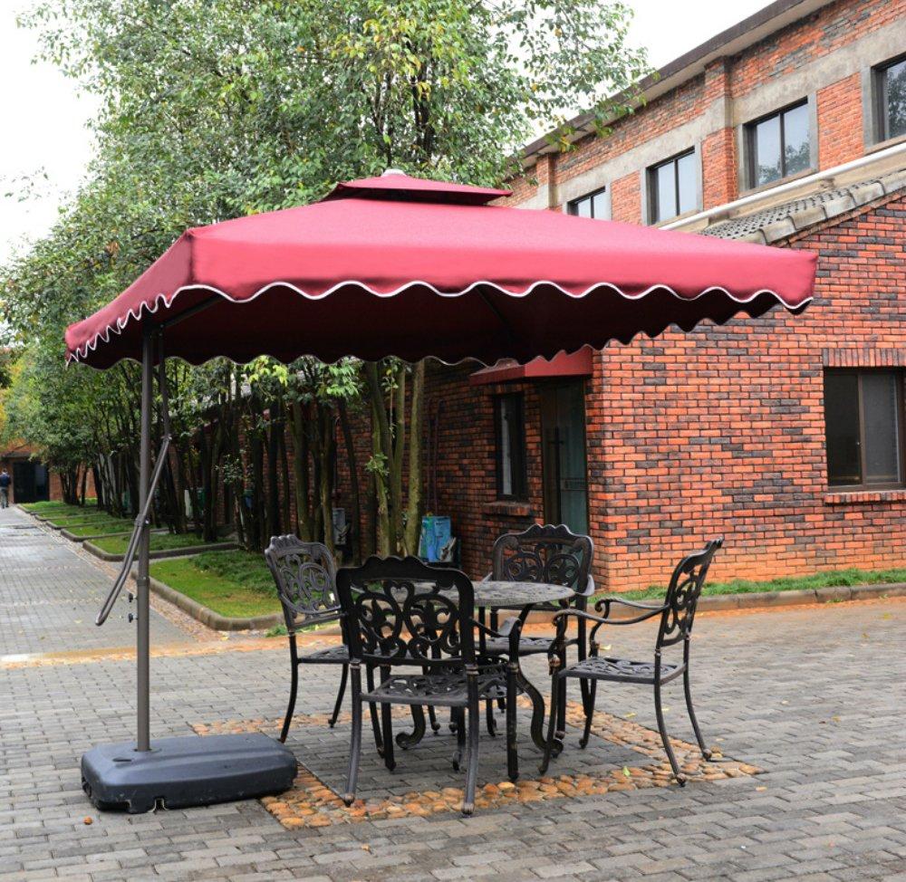 Amazon.com : Tyloru0027s Garden 8 1/2 Ft Cantilever Outdoor Patio Umbrella, UV  Resistant, 100% Polyester, Burgundy : Garden U0026 Outdoor