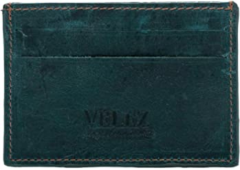 Velez Mens Genuine Leather Bifold Credit Card Holder | Billetera de Cuero Hombre