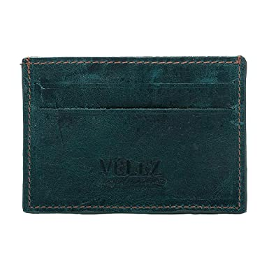 Velez Mens Genuine Full Grain Colombian Leather Bifold Wallets Credit Card Holder Money Clip | Billeteras de Cuero Colombiano para Hombres Turqoise at ...
