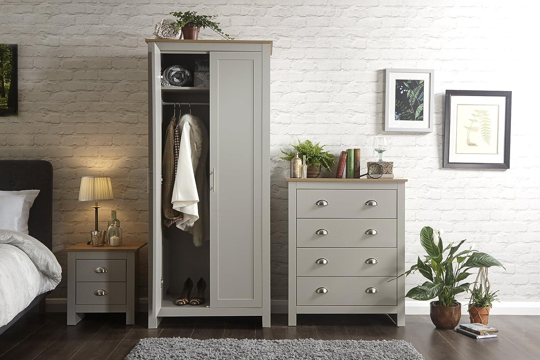 Lancaster Grey or Cream Bedroom Sets - 3 or 4 Piece (3 Piece, Grey)