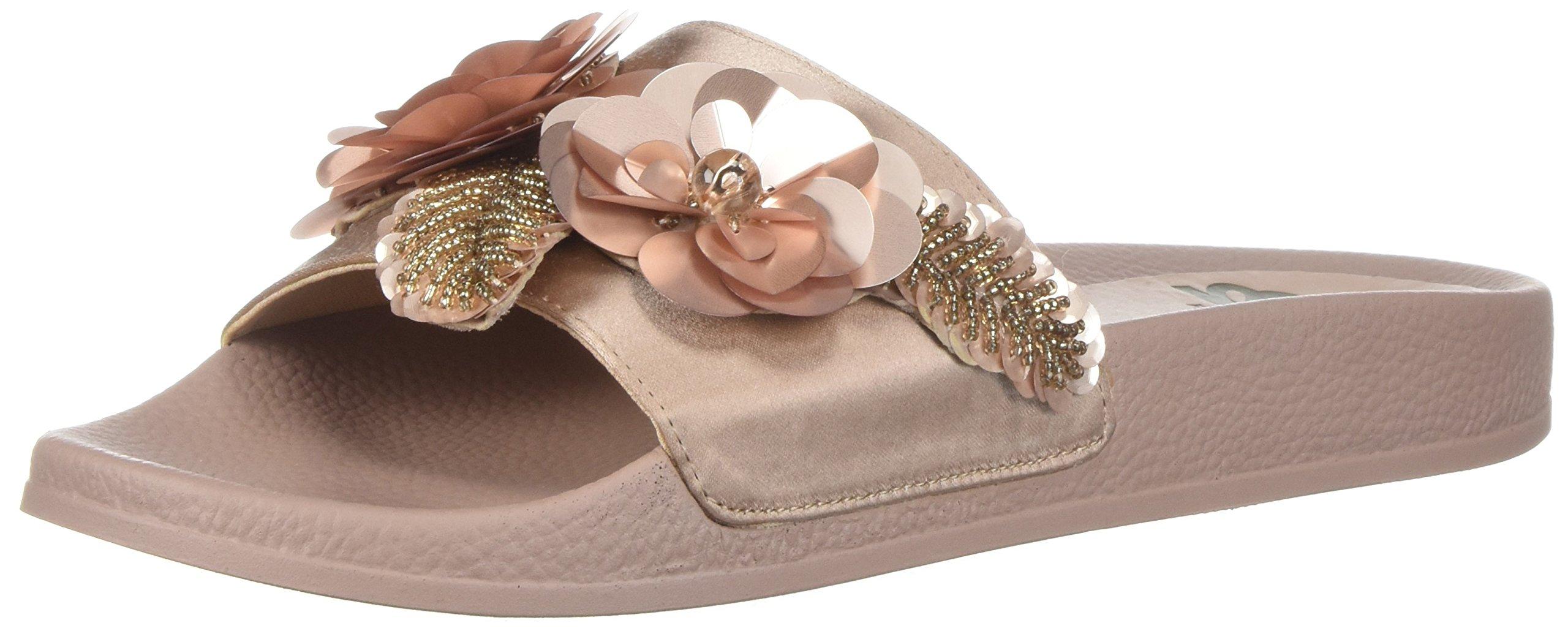 Fergalicious Women's Flame Slide Sandal, Cotton Candy, 10 M US
