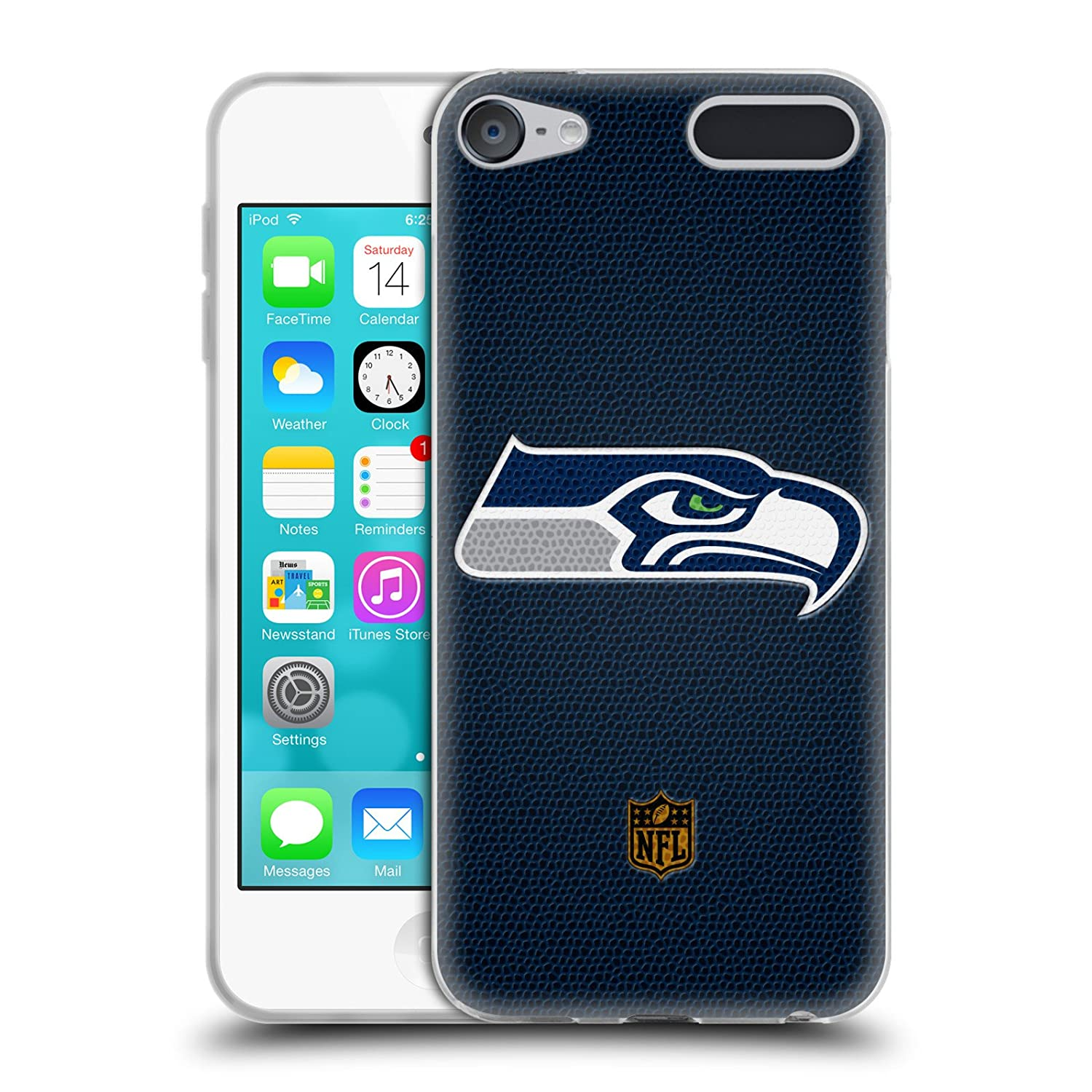 Official NFL Football Seattle Seahawks Logo Soft Gel Case for Apple iPod Touch 6G 6th Gen HTPCR-TOUCH6G-NFLLOSSE-FOO