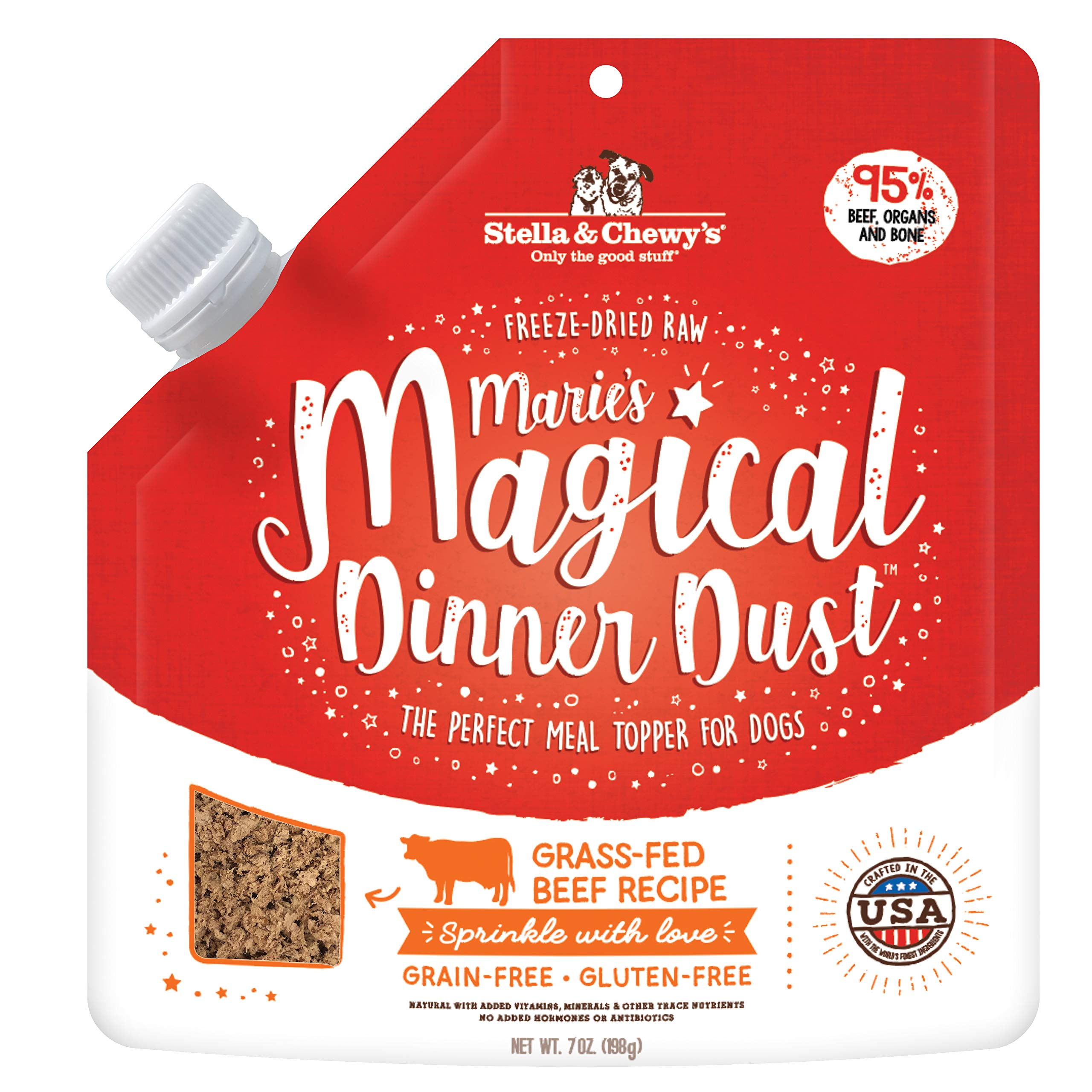 Stella & Chewy's Freeze-Dried Raw Marie's Magical Dinner Dust Grass-Fed Beef Recipe Dog Food Topper, 7 oz by Stella & Chewy's