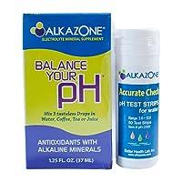 Alkaline Water Drops with Ph Test Strips Bundle - Alkazone Antioxidant Alkaline...