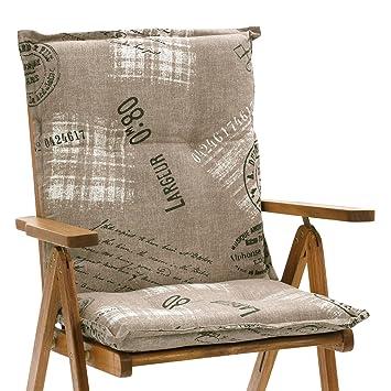 6 Auflagen in taupe für Niederlehner Sessel niedrig Stuhl Niedriglehner Kissen