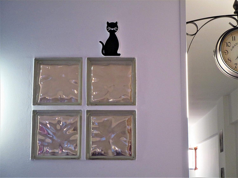 Dise/ño gato para mueble o pared en interior y exterior. Accesorio decorativo infantil corp/óreo