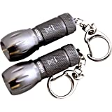 Rolson One LED Mini Key Ring Torch - 2 Pieces