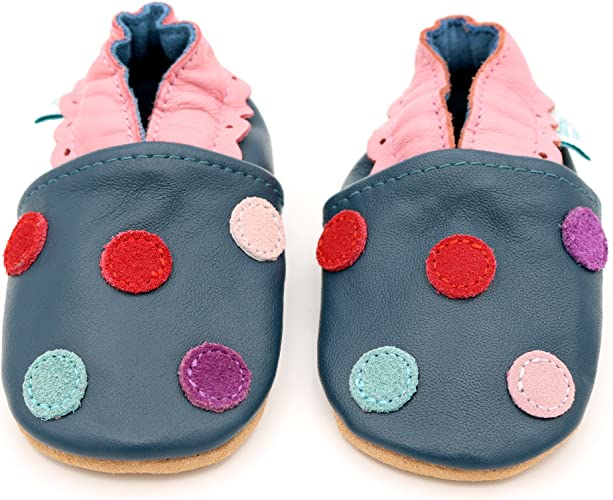 *SECONDS* GIRLS 3-4 YEARS Dotty Fish Soft Leather Baby and Toddler Shoes