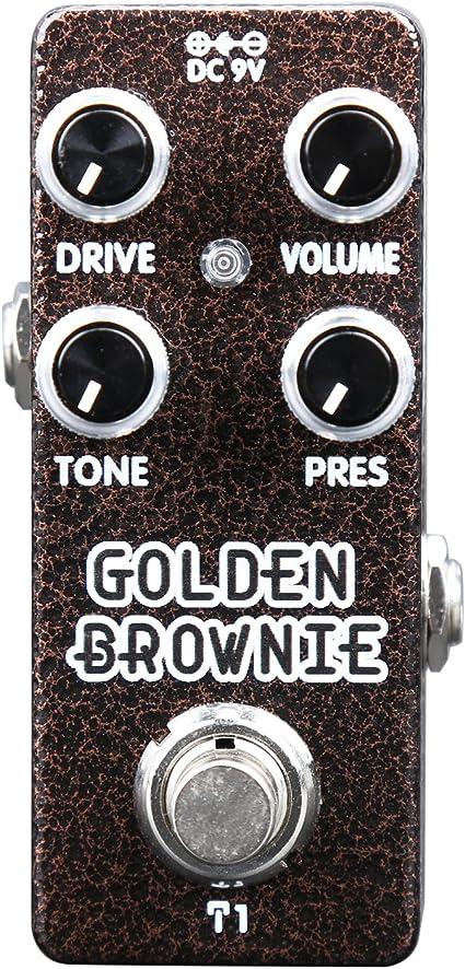 Distortion Effekt Pedal Thomas Blug Signature Series XVive T1 Golden Brownie